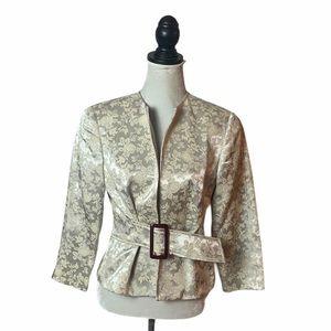 Rare Vintage Speigel Ivory Belted Jacket 8